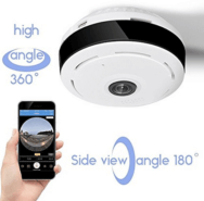 Wireless Fisheye Vision 360° Panoramic IP Surveillance CCTV Security Camera
