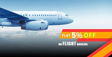 Get 5% discount on Flight & Hotel Booking