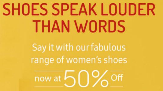 Get 50% discount on Women shoes at Bata