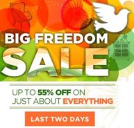 Big Freedom Sale: Get up to 55% OFF