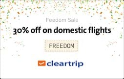 30% OFF on Domestic Flights Booking