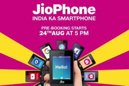 Pre-booking of Reliance Jio Phone at Rs.1500