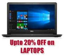 Up to 20% OFF on LAPTOPS