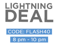 Lightening Deal: Get Minimum 50% & Extra 40% OFF