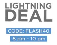 Lightening Deal: Get Minimum 50% & Extra 40% OFF