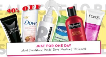 40% OFF on Lakme, Ponds, Dove, Vaseline, Tresemme