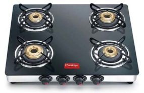 Prestige Black Marvel Glass Gas Table 4 Burner