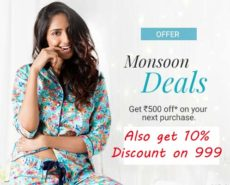 Get 10% discount on Rs.999