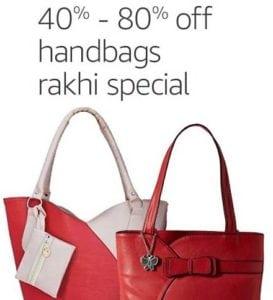 Rakhi Special Offer 80% OFF On Handbags