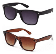 Combo of Black Brown Wayfarer Sunglasses at Rs.149/-