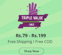 Triple Value Sale on Shopclues – Free Shipping on all products