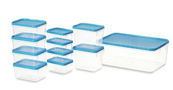 Plastics Polka Container Set, 11 Pieces