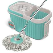 Milton Elite Spin Mop with Bigger Wheels & Auto Fold Handle 360 Degree