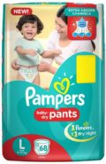 Pampers Pants Diapers(68 Pieces) Size-L