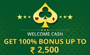 Get Welcome Bonus of Rs.2500 and Play