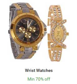 Offers on Wrist Watches – 70% OFF