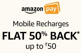 Flat 50% off on Mobile Recharge on Amazon