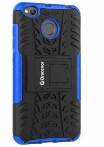 Bracevor Back Cover for Mi Redmi 4  (Royal Blue, Rugged Armor, Rubber, Plastic) at Rs.279/-