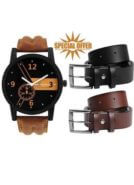 Belt And Watch Combo at Rs.199