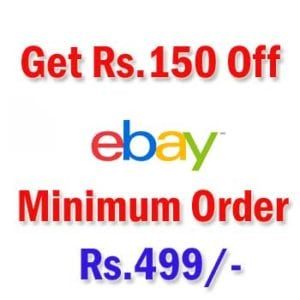 Get rs150 off on rs499 on ebay dealsgig get rs150 off on rs499 on ebay stopboris Choice Image