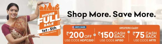 Grofers Coupon for 1st to 5th day of Every month