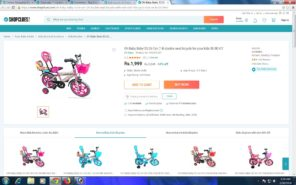 Double Seat Bicycle for your baby at Rs.1999/-