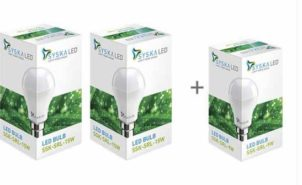 Led Lights 15 W, 9 W Standard B22 LED Bulb  (White, Pack of 2) at Rs.349/-