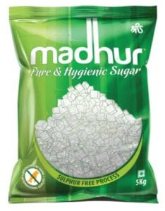 5kg Bag of Madhur Pure Sugar at Rs.206/-