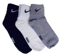 Nike Men's Combo Of 3 Pairs Multicolor Medium Socks at Rs.137/-
