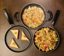 Splatter Finish Cookware Set of 3  (Aluminium) at Rs.899/-