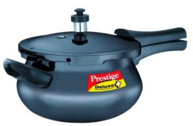 Prestige Deluxe Plus Mini Induction Base Hard Anodized 3.3 Litres Pressure Cooker at Rs.1619/-