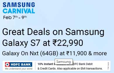 Big Offer on Samsung Products – Samsung Carnival is Live