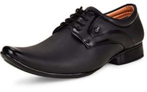 Men's Black Formal Synthetic Lace-Up Shoes at Rs.499/-