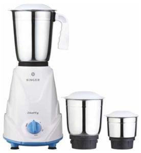 Singer cheffy 500W 3 Jars Mixer Grinder at Rs.1350