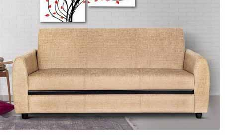 Urban Living Seattle Fabric 3 Seater  (Finish Color – Light Brown) at Rs.13499