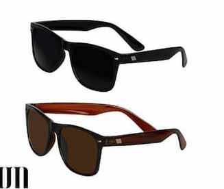 David Martin Combo of Black & Brown Wayfarer Sunglass at Rs.59/-
