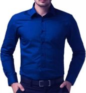 Men's Solid Formal Blue Shirt of Being Fab at Rs.499/-