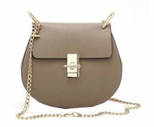 Di Grazia Women's Cross Body Sling Bag (Ash Grey, Grey-Chain-Round-Bag) at Rs.999/-