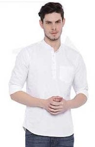Zavlin White cotton kurta at Rs.349/-