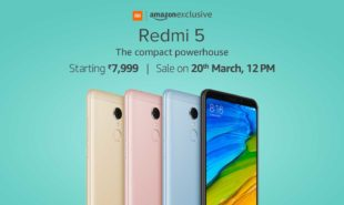 Redmi 5 SALE will be start on 20th March at Rs.7999/-