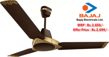 Jaipur Bandhej 3 Blade Shalimar Gold Ceiling Fan from Luminous at Rs.2,699/-