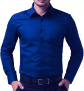 Solid Formal Blue Collar Shirt from Being Fab at Rs.525/- (MRP : Rs.1,390/-)