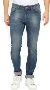 Flying Machine Slim Blue Jeans for Men at Rs.890/- (MRP : Rs.2199/-)
