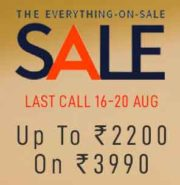 AJIO Coupon – Get  62% percent discount on Rs.2190 and above