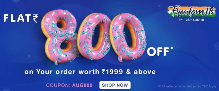 Get Rs.800 discount on Rs.1999 at FirstCry
