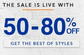 Get upto 80% discount on selected items on Myntra in this Freedom Sale
