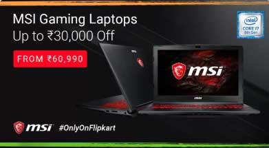 MSI Gaming Laptop Offer on Flipkart