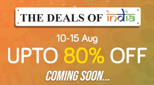 Get up-to 80% discount in maximum products in this independence day