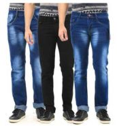Combo Of 3 Denim Jeans by AVE Fashion at Rs.1,639 only