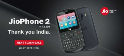 Jio Phone 2 Next Flash Sale will be on 6th September